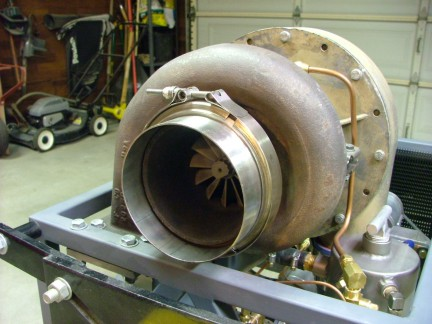 老外自制的gr-7 涡轮喷气发动机(转载)